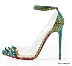 Louboutin snake skin and spikes