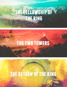 The Fellowship of the Ring // The Two Towers // The Return of the King #lotr