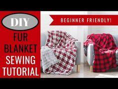 Flannel + Fur Holiday Blanket | JOANN - Sweet Red Poppy Sewing Hacks, Sewing Tutorials, Sewing Projects, Sewing Patterns, Clothing Patterns, Sewing Ideas, Flannel Quilts, Flannel Blanket, Knot Blanket