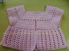CROCHE: Vestido de crochê para bebê passo a passo