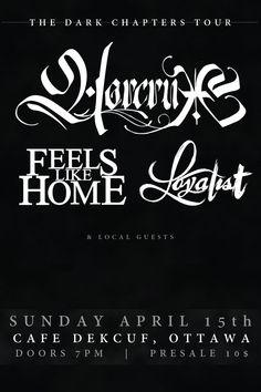 Horcrux, Feels Like Home, Loyalist & More @ Dekcuf 04/15 | Horcrux, Ottawa, ON live at Cafe Dekcuf - April 15, 2018 #horcrux, #feelslikehome, #loyalist, #ottawa, #cafedekcuf