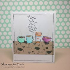 Lawn Fawn- Love You a Latte _ charming card by Shannon via Flickr - Photo Sharing!
