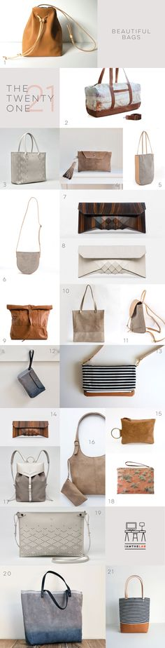 From IAMTHELAB.com The Twenty One: Beautiful Handmade Bags