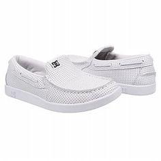 White Dc Slip-ons