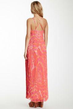 Hale Bob Printed Sleeveless Maxi Dress