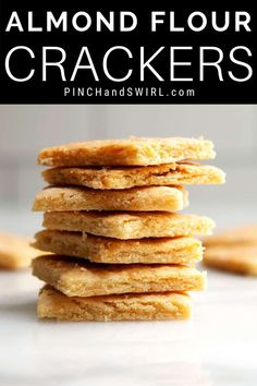With just 5 simple ingredients, you can make light and crispy homemade Almond Flour Crackers with this easy recipe! Made with parmesan cheese, these are cheesy and addictive! Great for keto and low carb diets!