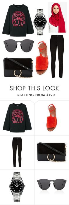 """""""Untitled #412"""" by daily2outfit ❤ liked on Polyvore featuring Dsquared2, Tory Burch, Paige Denim, Chloé, TAG Heuer and Illesteva"""