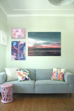 Collection of pink wall canvses - wall art - Wallstudio