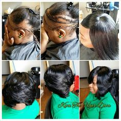 Alopecia Client (hereditary) I built a few braids to give her a flawless install. Private Appointments are available. Helping to restore confidence and trust one install at a time! Sew In Hairstyles, Pretty Hairstyles, Woman Hairstyles, Hairdos, Updos, Lace Wigs, Natural Hair Styles, Short Hair Styles, New Hair Growth