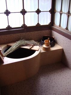 Bathroom, old Japanese style.
