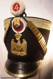 Shako da ufficiale della fanteria della linea