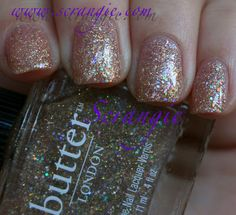 Scrangie: Butter London Holiday Dressing Table Tart With a Heart and The Black Knight Duo for Holiday 2011 Swatches And Review