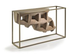 Rebus is considerate a modern Art Console with bronzed metal structure and solid walnut wood, it not rather inconspicuous, for a modern style house, a piece of Hudson Furniture, Luxury Furniture, Cool Furniture, Modern Furniture, Furniture Design, Luxury Interior Design, Modern Interior, Boffi, Metal Structure