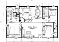 1000 images about floor plans on pinterest double wide for 6 bedroom double wide