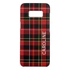 #stylish - #Classic Red Black Yellow White Tartan Pattern Case-Mate Samsung Galaxy S8 Case
