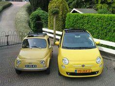 Classic & new #Fiat500. - Family portrait.;)