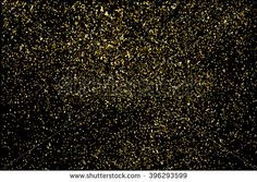 Gold glitter texture on a black background. Golden explosion of confetti. Golden grainy abstract texture on a black background. Design element. Vector illustration,eps 10.