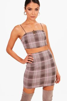 Click here to find out about the Lottie Check Spaghetti Strap Midi Co-ord from Boohoo, part of our latest Co-ord Sets collection ready to shop online today!