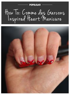 Wear your heart on your #mani today for #ValentinesDay @POPSUGARBeauty