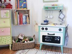 DIY tutorial: Kinderkeuken van een oud nachtkastje bouwen via DaWanda.com