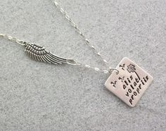 Alis Volat Propriis - she flies with her own wings - Sterling Silver Necklace £27.00
