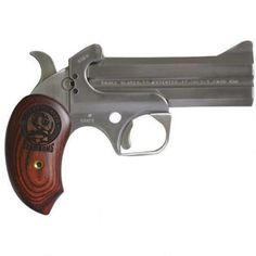 "Bond Arms Snake Slayer IV Derringer .45 Long Colt and .410 Bore 4.25"" Barrels Extended Rosewood Grip Satin Polish Stainless Steel Finish"