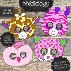 BEANIE BOO Printable Masks/Photo by TotallyPixelicious on Etsy