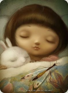 Beautiful imagination: Sweet dream people of this world. So turn off Googl+ and go to bed, close your eyes and enjoy my company in dreams or nightmares.