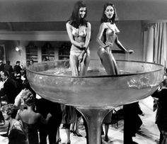 New Years Eve Party, c. 1960 Looks like this could be in an Austin Powers flick!!