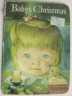 Baby's Christmas Vintage 1980 Board Book by Eloise Wilkin by bythewaye, via Flickr