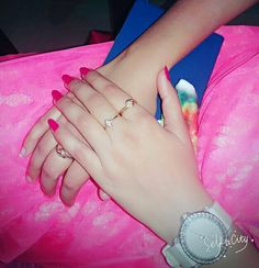 Girlz Dpz, Girls Hand, Beautiful Hands, Delicate, Nails, Bracelets, Rings, Jewelry, Quotes
