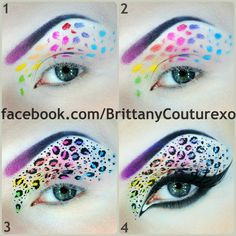 I so want to try this!  Very Lisa Frank!