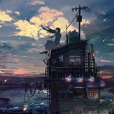 Dance Quiz, Character Illustration, Illustration Art, Illustrations, Landscape Concept, Anime Scenery, Pretty Art, Aesthetic Art, Aesthetic Anime