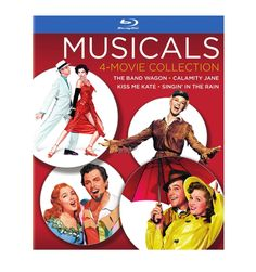 Featuring performances with Hollywood legends Fred Astaire, Doris Day, Gene Kelly and Howard Keel, the Musicals Collection includes four classics on Blu-Ray™ for the first time ever. Enjoy The Bang Wagon, Calamity Jane, Singin' In The Rain and Kiss Me Kate (in 2D and 3D!) and bring some of that old Hollywood glamour to your living room. Available now!