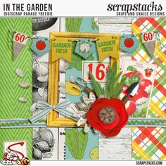 Quality DigiScrap Freebies: In The Gardem mini kit freebie from Snips and Snails Designs