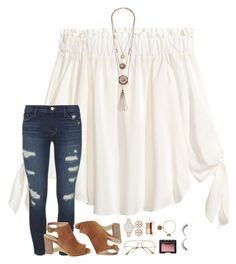 """""""harry's new album"""" by beingrach ❤ liked on Polyvore featuring H&M, J Brand, Hollister Co., Kate Spade, Tory Burch, Clarins, NARS Cosmetics, Alex and Ani, harrystyles and newalbum"""