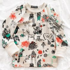 aarrekid organic forest longsleeve - tops - baby girl | Thumbeline