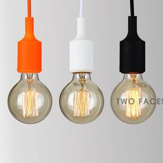 Colorful Modern Bar Loft Silicone Ceiling Pendant Light Lamp Shade Lamp E27