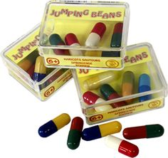 jumping beans  ohh, these were so cool! Loved them! I used to beg my parents to buy them when we stopped at Stuckey's.