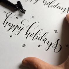 «Finishing up holiday cards whilst practicing modern calligraphy. 2 birds...errr Turtle Doves if you will.»