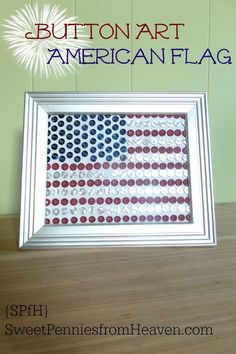 4th of July Button Art American Flag Craft and Decor