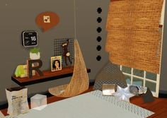 Sims 4 CC's - The Best: Office Set with Hanging Chair by Steffor