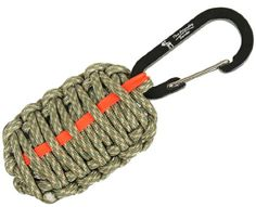 "The Friendly Swede (TM) Carabiner ""Grenade"" Survival Kit Pull with Tin Foil, Tinder, Fire Starter, Fishing Lines, Fishing Hooks, Weights, Swivels, Dobber, Knife Blade Wrapped in 7ft of 500 lb Paracord in Retail Packaging - Lifetime Warranty (ACU Digital with Orange Red Line) The Friendly Swede http://www.amazon.com/dp/B00FPHXRO4/ref=cm_sw_r_pi_dp_ZUC-tb084G8XR"