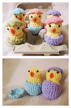 Free Hatching Easter Chicks Crochet Pattern