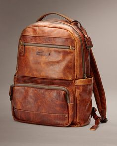 I prefer to have a bag pack that is leather. They are typically made better and last longer. (Logan Backpack Large - Bags & Accessories_Mens_Bags - The Frye Company) Designer Leather Handbags, Leather Purses, Backpack Bags, Leather Backpack, The Frye Company, Men's Backpacks, Leather Design, Large Bags, Swagg