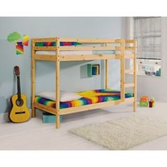 Buy Natural Pine Shorty Bunk Bed with Bobby Mattress at Argos.co.uk - Your Online Shop for Children's beds.