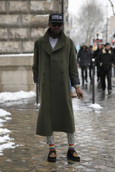 wgsn:  #WGSNStreetShot: Smart and tailored long-line woolen...