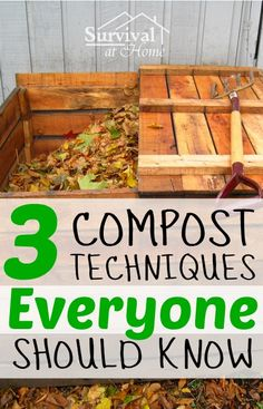 Composting 3 Compost Techniques Everyone Should Know (via Survival at Home) - The better your garden soil, the greater your chance of success for a productive gardening season. Here are three compost techniques to help your soil. Homestead Gardens, Farm Gardens, Outdoor Gardens, Organic Gardening, Gardening Tips, Garden Compost, Garden Soil, Living Off The Land, Hobby Farms