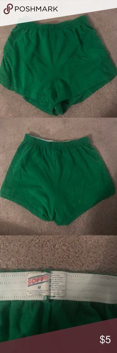 Green Soffe Shorts •Green Soffe Shorts •Soffe Brand •Good condition  •Material-stretchy and good for sports or the gym •I used these kinds of shorts for cheerleading ✨Feel free to ask questions/offer other prices✨ STAY BEAUTIFUL💕 Soffe Shorts