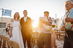 Wedding Greek island traditional band harbour| lafete